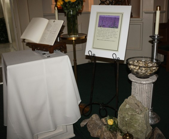 Saint Marys Book  of Remembrance and Cross Street Stones