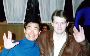 George Takei and me, 1990