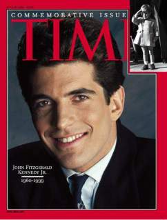 Time Magazine Cover commemorating passing of JFK Jr., copyright TIME magazine