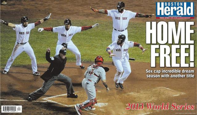 Red Sox Win the World Series - Boston Herald  Photo