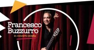 Il chitarrista Francesco Buzzurro in concerto a Belvedere ed ospite ad Agrigento