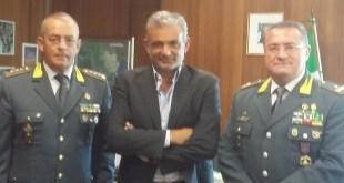 Potenza, i vertici della GdF in visita al Procuratore della Repubblica, dott. Francesco Curcio