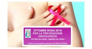 """Rionero in Vulture, """"Ottobre Rosa"""" all'IRCCS CROB, visite ed ecografie gratuite"""