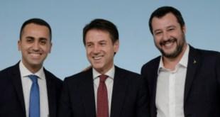 Conte, Salvini e Di Maio, vertice concluso in modo positivo
