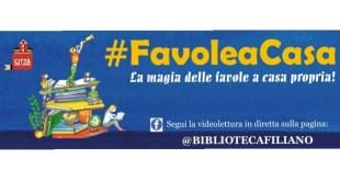 """""""#FavoleaCasa"""", l'appuntamento online da Filiano"""