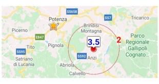 Anzi, scossa di terremoto di magnitudo 3.5