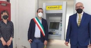 """Oliveto Lucano, inaugurato lo sportello ATM di """"Poste Italiane"""""""