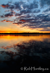 Sunset on Black Lake near Perth, Ontario.