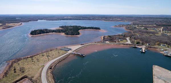 Aerial photograph. Pugwash Basin and Pugwash Harbour - Pugwash, Nova Scotia