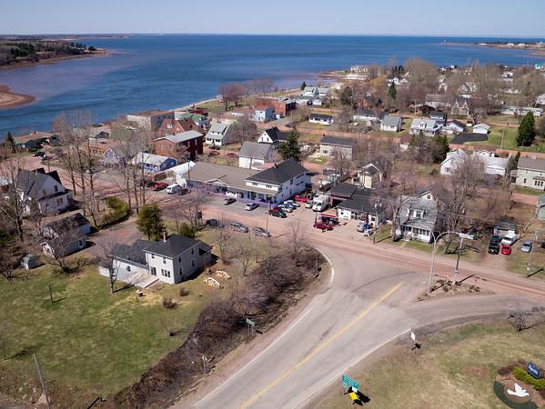 Aerial photograph. Pugwash, Nova Scotia
