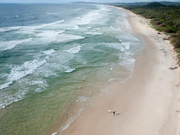Tallow Beach near Byron Bay, New South Wales, Australia.