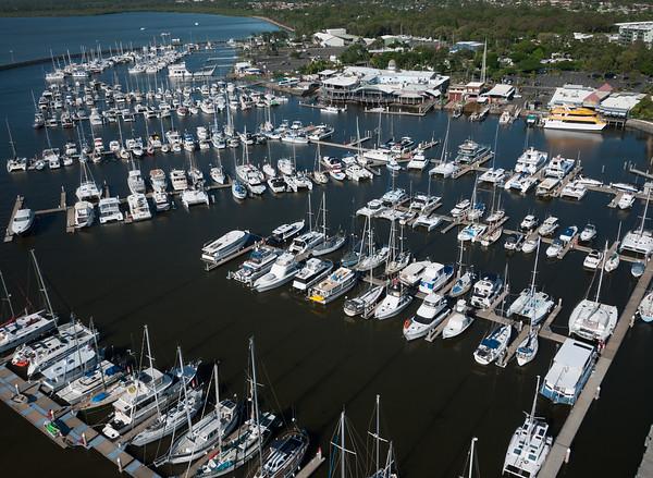 Aerial photograph, Hervey Bay Boat Club, Hervey Bay, Queensland, Australia.