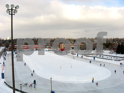 The speed skating oval at Brewer Skate Park, Ottawa.