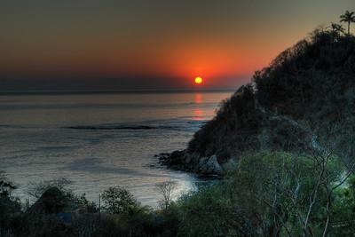 Pacific sunrise in Huatulco, Mexico.