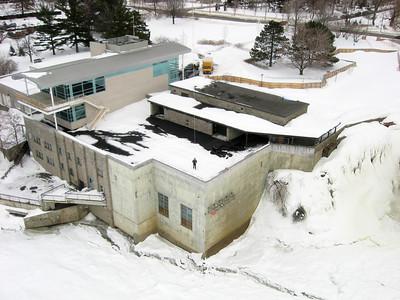 Visitor lookout, Rideau Falls, Ottawa, Ontario, Canada.