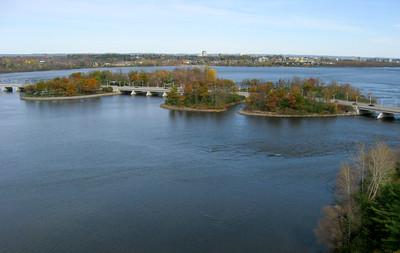Ottawa River Looking East Towards Champlain Bridge.