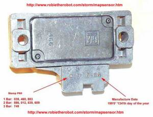 GM MAP sensor identification information 1 bar 2 bar 3 bar