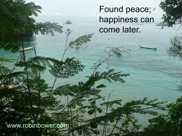 Found peace: Robin Bower author