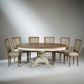 table bois massif en chene chaise en