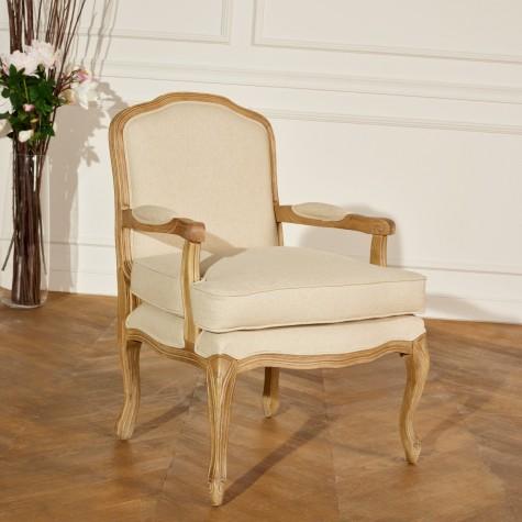 fauteuil bergere lin naturel sophie