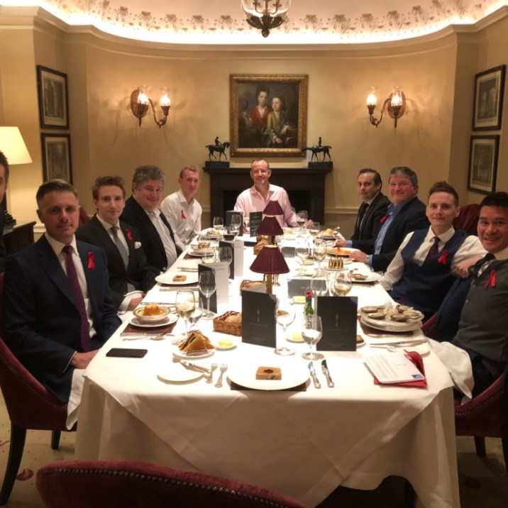 Private dining room at Wilton's Jermyn Street