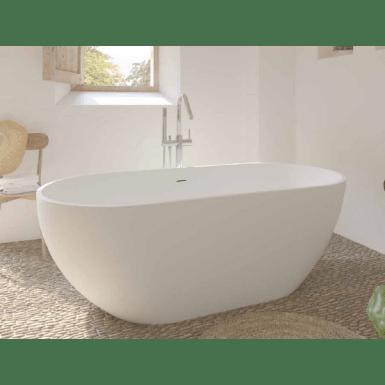 baignoire ilot rondo sanydur gel coat blanc mat sanycess