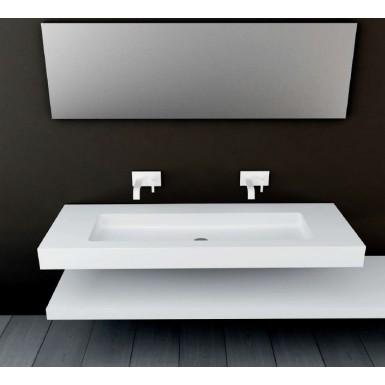 plan vasque mural blanc mat soho solid surface vasque xl a suspendre