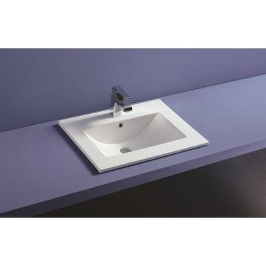 Plan Vasque Ceramique A Encastrer Thin Profondeur 46 Cm Robinet Co
