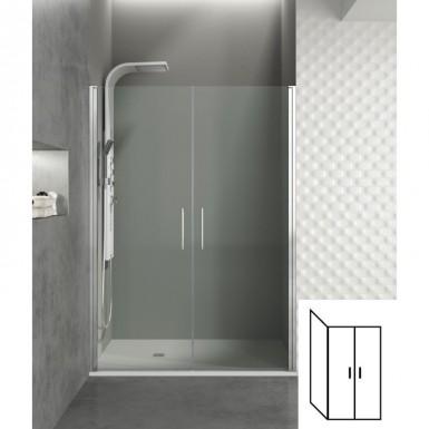 paroi de douche d angle portes battantes helia i 80 x 100 cm