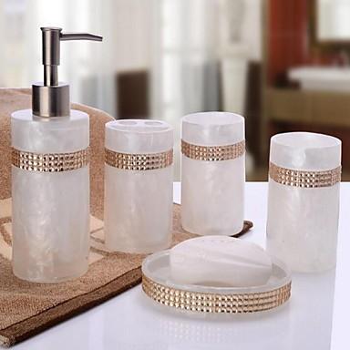 ensemble d accessoires de salle de bain 1set moderne resine set d accessoires de salle de bain salle de bain