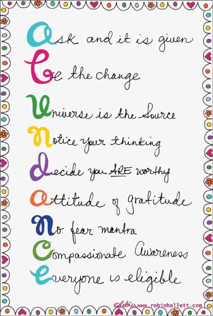 How to create abundance