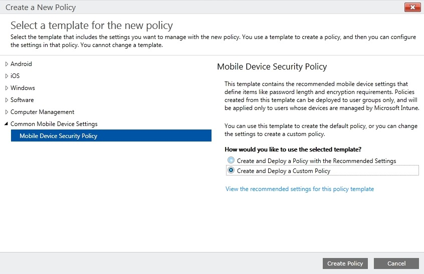 Mobile Security Policy