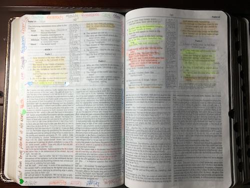 My study Bible