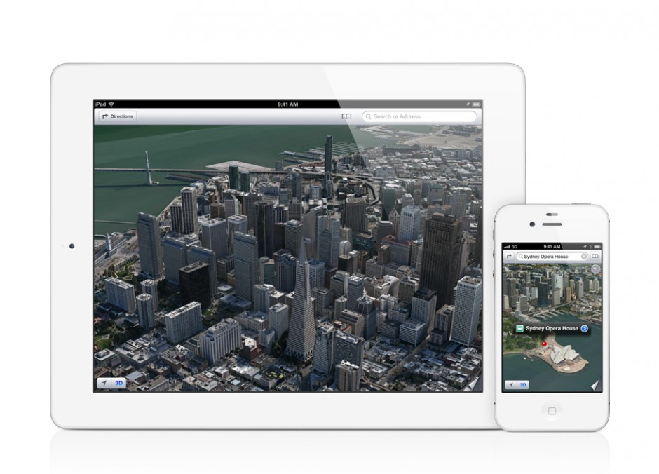 New Maps app on iOS 6