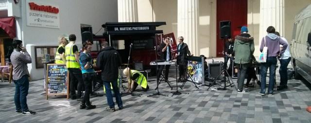 Dr. Martens photobooth. Nongkrong di depan Brighton Dome Bar.