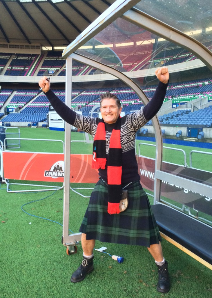 On the Field at Murrayfield for #Blogmanay!