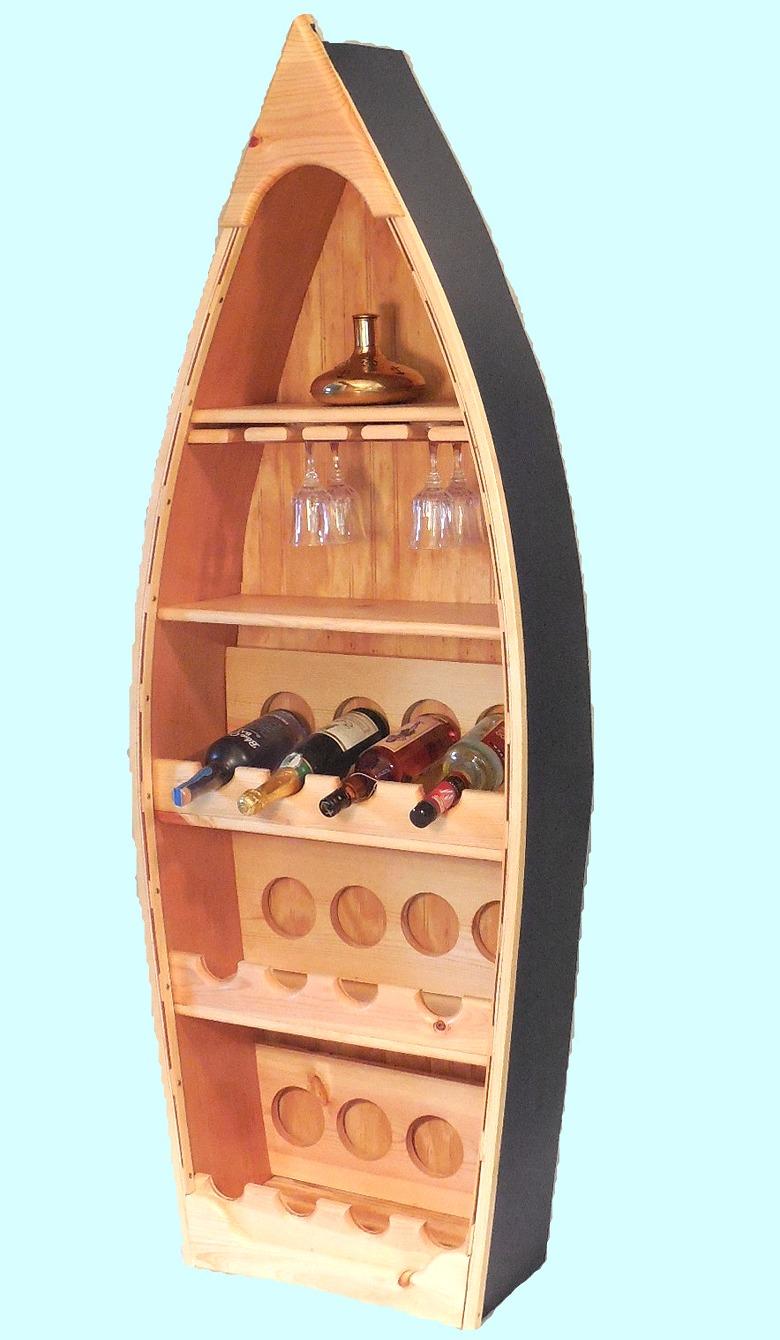 Robins Dockside Shop Rowboat Wine Rack