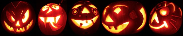 Results of the pumpkin-carving party 2011