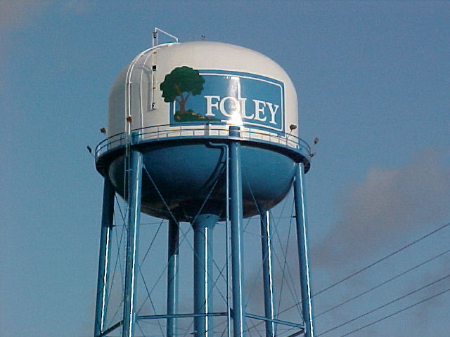 Foley, Alabama - tank with tree logo
