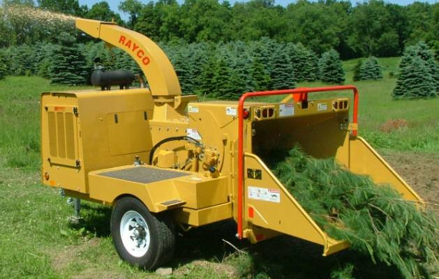 We rent wood and brush chippers