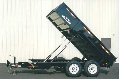 We rent dump trailers