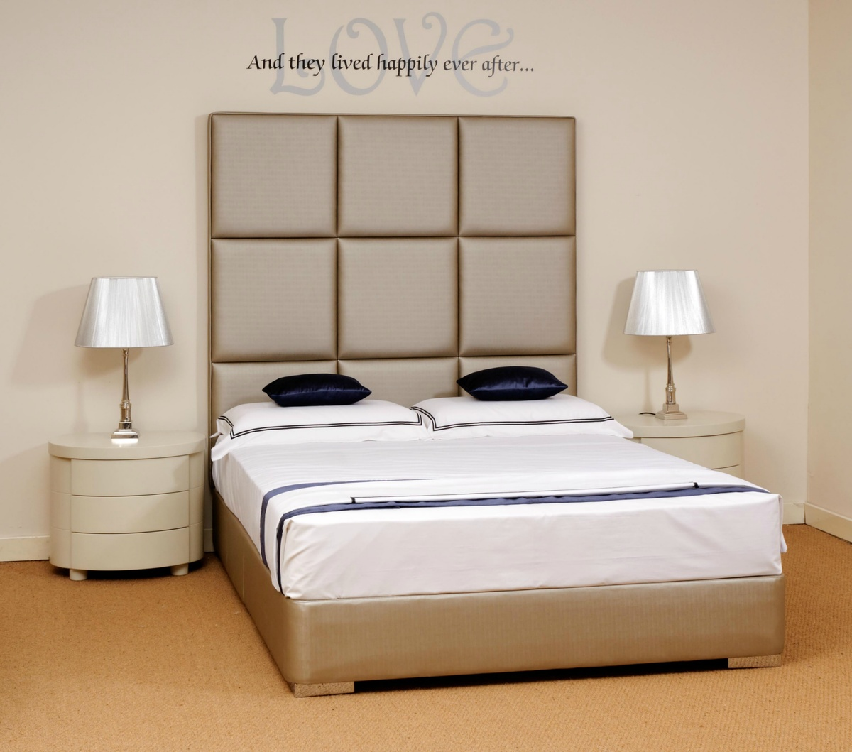Stylish Modern Beds Faux Leather Beds Custom Tall Headboards Interior Designer Robinsons Beds