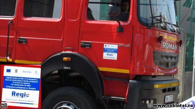 Mașină nouă de pompieri, achiziționată prin programul Regio