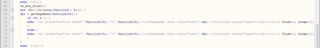 Codul original din scriptul de verificare a PR-ului