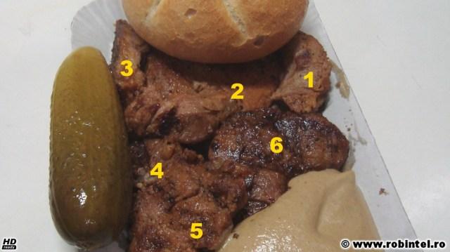 O tavă cu șase bucăți de ceafă de porc imbiss de la Kaufland