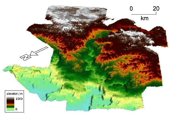 O lume pierdută de acum 56 de milioane de ani, cu râuri și văi de aproape că poți să-i faci harta