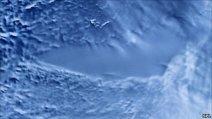 Lacul Vostok, imagine artificială (radar) din satelit
