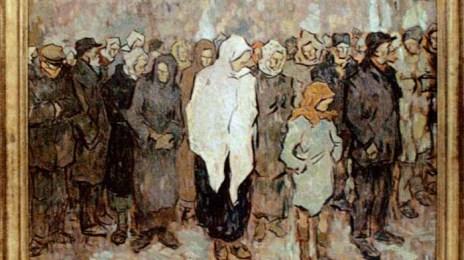 Coadă la pâine, circa 1919, pictură de N. Tonitza