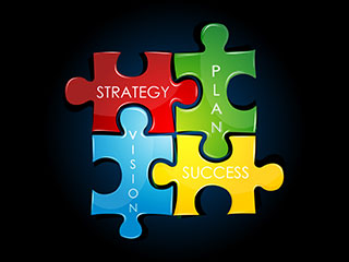 Strategy puzzle pieces