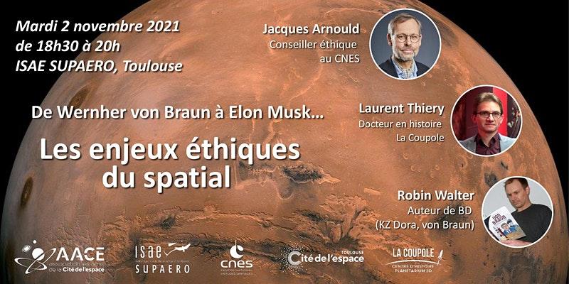 Conférence : De Wernher von Braun à Elon Musk… Les enjeux éthiques du spatial